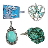 Turquoise Brass Pendants