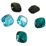 Crystal Cabochons, Square, rivoli back & faceted, more colors for choice, 10x10x5.7mm, Sold By PC
