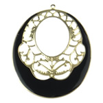 Enamel Iron Pendants, Oval, more colors for choice, 55.5x70x0.8mm, Hole:Approx 1.8mm, Sold By PC