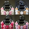 Rhinestone Shamballa Bracelets, with Nylon Cord & Hematite, handmade, more colors for choice, 10mm, 8mm, Sold Per Approx 7-10 Inch Strand