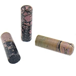 Seal Decoration, Rhodonite, Tube, 17x60x17mm, Sold By PC