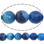 Natural Lace Agate Beads, Round, more sizes for choice & faceted, blue, Hole:Approx 1-1.5mm, Length:Approx 15 Inch, Sold By Strand