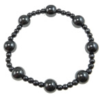 Hematite Bracelet, different styles for choice, Grade A, 10mm,4mm, Length:7.5 Inch, Sold By Strand