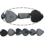Snowflake Obsidian Bead, Heart, different size for choice & imported, Hole:Approx 1mm, Length:15.5 Inch, Sold By Strand