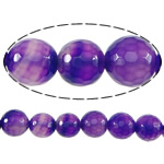 Natural Lace Agate Beads, Round, more sizes for choice & faceted, purple, Hole:Approx 1-2mm, Length:Approx 15 Inch, Sold By Strand