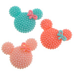 Solid Color Resin Cabochon, Mickey Mouse, flat back, more colors for choice, 28x24x7mm, Sold By PC