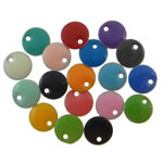 Enamel Iron Pendants, Coin, double-sided enamel, more colors for choice, nickel, lead & cadmium free, 20mm, Hole:Approx 1-1.5mm, Sold By PC