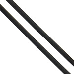 Rubber Cord, black, 3mm, Approx 88m/KG, Sold By KG