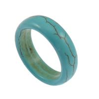 Synthetic Turquoise Finger Ring, different size for choice, blue, Sold By PC