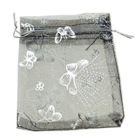 Organza Jewelry Pouches, with butterfly pattern, more colors for choice, 10x12cm, Sold By PC