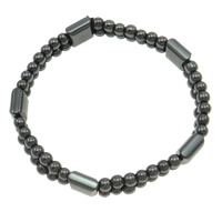Hematite Bracelet, different styles for choice, Grade A, 4x10mm, Length:7.5 Inch, Sold By Strand