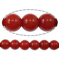Natural Coral Beads, Round, different size for choice, red, Grade A, Length:15.5 Inch, Sold By Strand