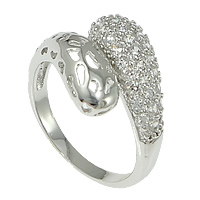 Cubic Zirconia Micro Pave Brass Finger Ring, plated, micro pave cubic zirconia, more colors for choice, nickel, lead & cadmium free, 15mm, US Ring Size:8, Sold By PC