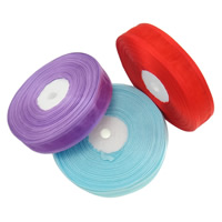 Organza Ribbon, mixed colors, 20mm, 15PCs/Lot, 45m/PC, Sold By Lot