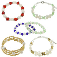 Crystal Pearl Bracelets