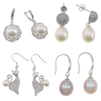 Sterling Silver Pearl Drop Earring