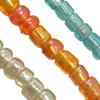 Silverlined S.H.Rainbow Glass Seed Beads