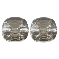 Acrylic Shank Button, faceted, more colors for choice, Hole:Approx 1mm, Sold By Bag