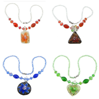Crystal Lampwork Necklace
