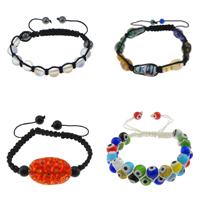 Lampwork Shamballa Bracelets
