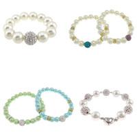 Rhinestone Glass Pearl Bracelets