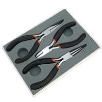 Ferronickel Plier Set, with Plastic, black, 3PCs/Set, Sold By Set