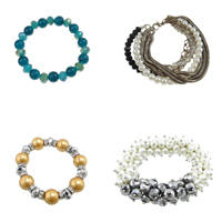 Crystal Glass Pearl Bracelets