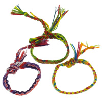Friendship Bracelets, Nylon Cord, braided, more colors for choice, 14x3mm, Length:Approx 7.5 Inch, 12Strands/Bag, Sold By Bag