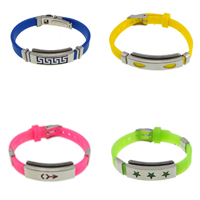 Silicone Stainless Steel Bracelets