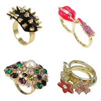 Zinc Alloy Finger Ring Jewelry