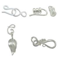 Sterling Silver Hook and Eye Clasp