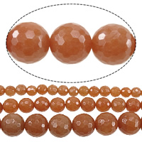 Dyed Marble Beads, Round, different size for choice & Customized & faceted, light reddish orange, Sold Per Approx 15 Inch Strand