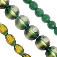 Natural Green Quartz Beads