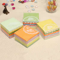 Origami Paper, Square, for origami cranes making, mixed colors, 65x65mm, 360PCs/Bag, Sold By Bag