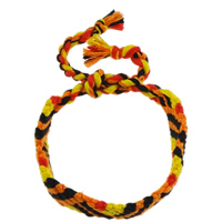 Friendship Bracelets, Wool, woven pattern, multi-colored, Length:Approx 7.5 Inch, Sold By Strand