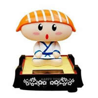 Solar Powered Car Decoration, ABS Plastic, Character, mixed, 70x80mm, Sold By PC