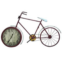 Table Watch Decoration, Iron, with Glass, Bike, painted, copper color, 910x80x550mm, 270mm, Sold By PC