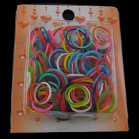 Loom Bands, Rubber Band, with Plastic, Rectangle, synthetic, attachted crochet hook & with plastic S clip & for children, multi-colored, 17x1mm, 91x110x26mm, Approx 200PCs/Box, Sold By Box