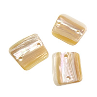 Abalone Shell Connector, Rectangle, Australia Imported & 1/1 loop, 15x13x3.5mm, Hole:Approx 2mm, Sold By PC