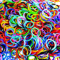 Loom Bands, Rubber, Donut, more colors for choice, 19x1.4x1.4mm, 27mm, Approx 15000PCs/KG, Sold By KG