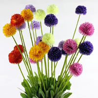 Artificial Flower Home Decoration, Spun Silk, with Plastic & Iron, mixed colors, 60PCs/Lot, Sold By Lot