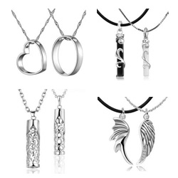 925 Sterling Silver Couple Pendant