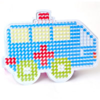 Hama Fuse Beads Pegboard, Plastic, Ambulance, 5mm DIY fuse pegboards & with fuse beads template & transparent, white, 140x105mm, Sold By PC