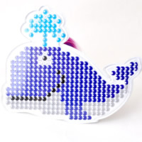 Hama Fuse Beads Pegboard, Plastic, Whale, 5mm DIY fuse pegboards & with fuse beads template & transparent, white, 160x120mm, Sold By PC