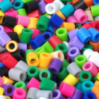Hama Fuse Beads, Plastic, Column, mixed colors, 5mm, Approx 17500PCs/KG, Sold By KG