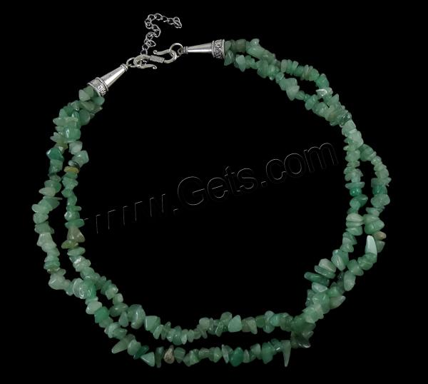 Apatite Necklace, zinc alloy S hook clasp, green, 6mm, Length:19 Inch, Sold By Strand