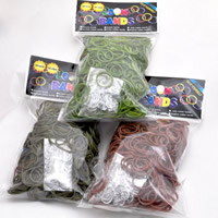 Loom Bands, Rubber, with plastic C clasp or S clasp & DIY & for children, mixed colors, 2mm, 600PCs/Bag, Sold By Bag