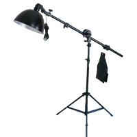 Photography Light Kit, Magnesium Aluminum Alloy, top light stand & lampshade & lamp holder & studio light crossbeam, with Ferromanganese Aluminium Alloy & Plastic, stoving varnish, nickel, lead & cadmium free, 270x160x1300mm, Sold By Set