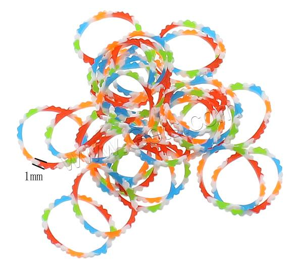Loom Bands, Rubber, different packing style for choice & for children, multi-colored, 1mm, Sold By Bag