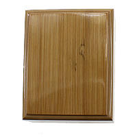 Wood Pendant Box, with Velveteen, Rectangle, 80x100x49mm, Sold By PC